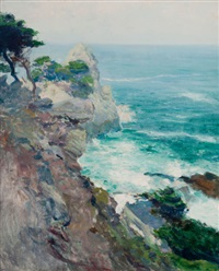 out to sea, point lobos by guy rose