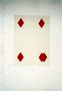 playing cards 5 diamonds by donald sultan