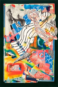the candles (stapling down and cutting up vii) by frank stella