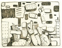 street scene by philip guston