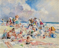 sunday at the beach by martha walter