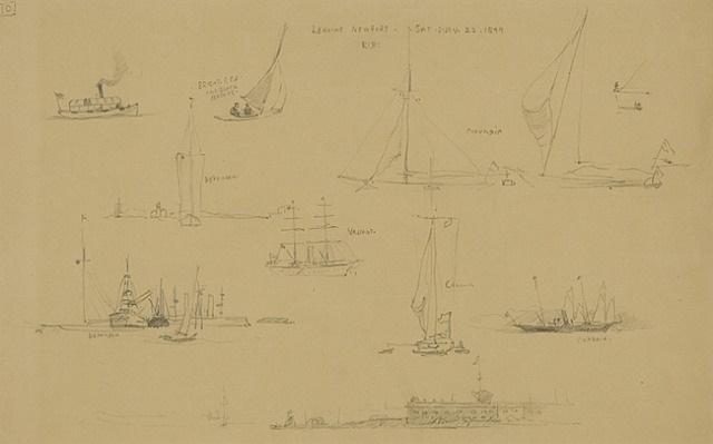 leaving newport, saturday july 22, 1899 by reynolds beal