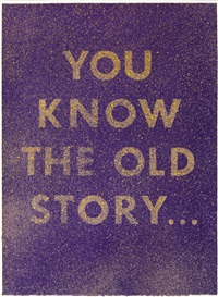 you know the old story by ed ruscha