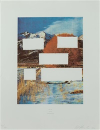 do as told or suffer (from the country cityscapes series) by ed ruscha
