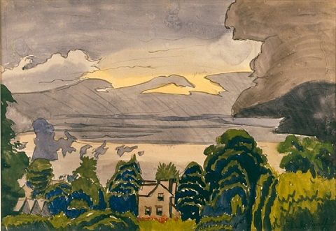 lull in summer rain by charles ephraim burchfield
