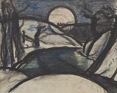 soho (moonrise) by oscar florianus bluemner