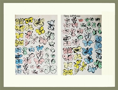 happy butterfly days by andy warhol