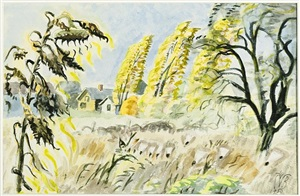 october sunlight by charles ephraim burchfield