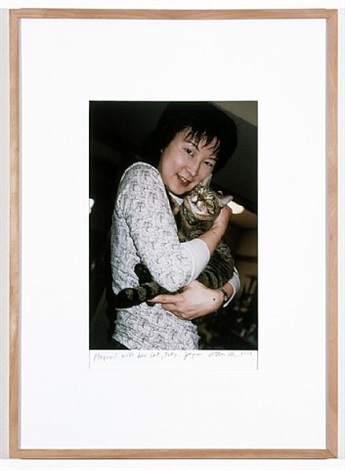 megumi with her cat, tokyo by dan graham
