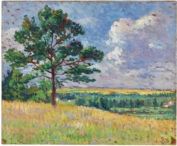 paysage pres de mereville by maximilien luce