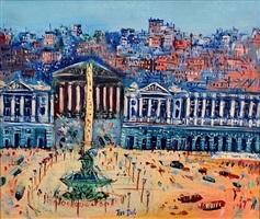place de la concorde by jean dufy