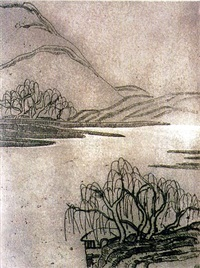 weeping willows by sanyu