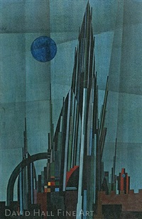 set design for goethe's faust by hannes beckmann