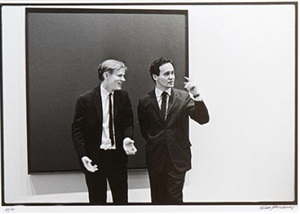 andy warhol and robert indiana by william john kennedy