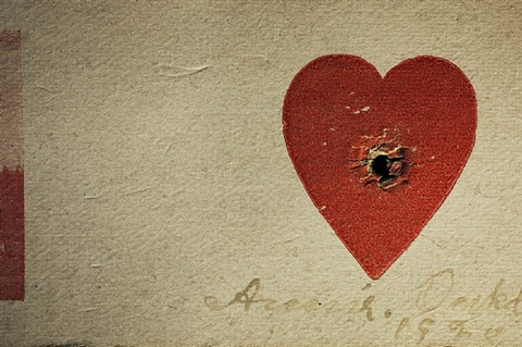 annie oakley's heart target, private collection, los angeles, california by annie leibovitz