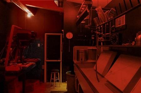 ansel adams' darkroom, carmel, california by annie leibovitz
