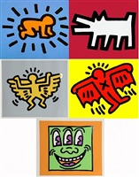 icons portfolio (5 arbeiten) by keith haring