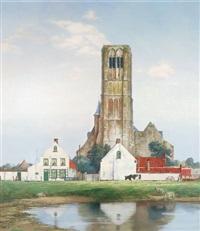 das dorf damme in flandern (liebfrauenkirche) by karlheinz ziegler