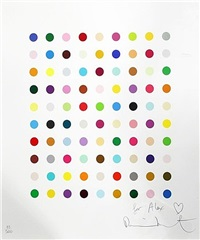 spot picture by damien hirst