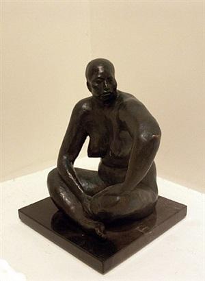desnudo sentado by armando amaya