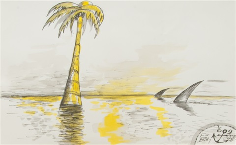 untitled palm tree shark fins by horace clifford westermann