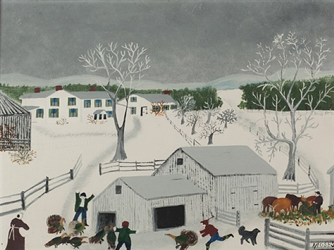we have a turkey by grandma moses