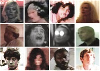 composite image of extras culled from classic films produced between 1925 to 2010 by william brovelli