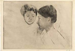 céleste and marjorie by mary cassatt