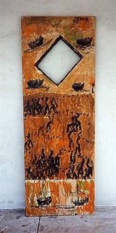 door with scenes by purvis young