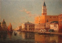 the grand canal & doge's palace, venice by antoine bouvard
