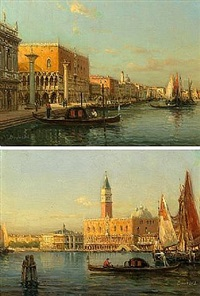 the grand canal and doge's palace, venice by antoine bouvard