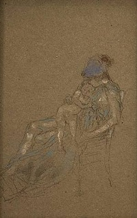 mother and child by james abbott mcneill whistler
