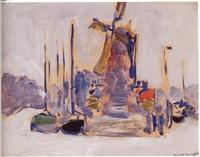bateaux a quai by kees van dongen