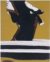 untitled (ochre, black, white) by robert motherwell