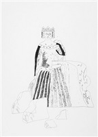 the princess after many years (from the story old rinkrank) by david hockney