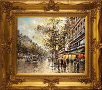 les grand boulevards, théatre des variétés, paris en 1900 by antoine blanchard