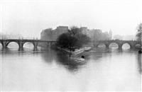 ile de la cite, paris by henri cartier-bresson
