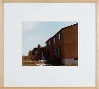backyard, new tract house, summer, staten island, new york, n.y. by dan graham