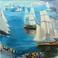 sails & sea ii by christopher brown