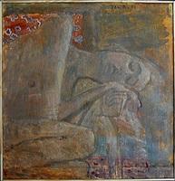 reclining woman by jan rauchwerger