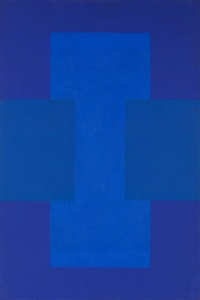 untitled (blue-purple painting) by ad reinhardt