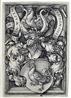 coat of arms with a cock by hans sebald beham