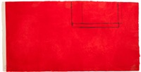 red open with white line by robert motherwell