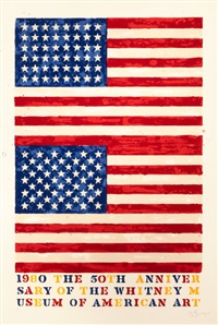 two flags (whitney anniversary) by jasper johns