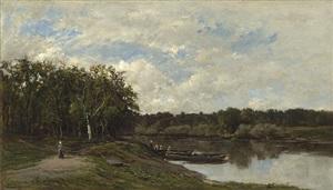 le passeur de l'oise by charles françois daubigny