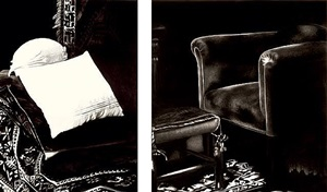 the freud cycle (diptych: pillow and chair, consulting room) by robert longo