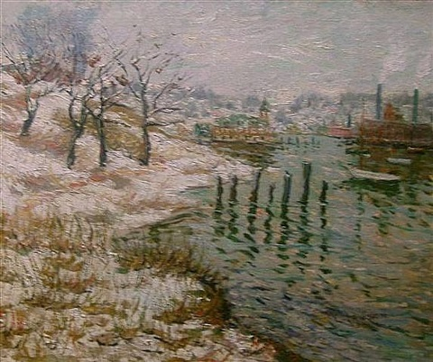 upper new york city by ernest lawson
