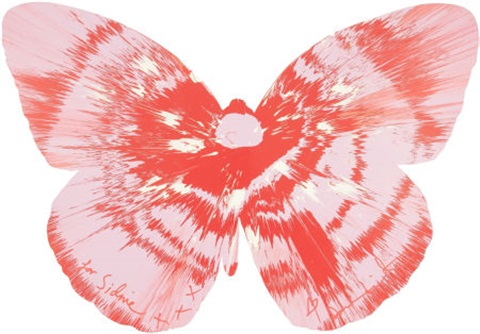 untitled (butterfly spin painting) by damien hirst