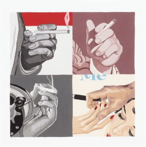 untitled mens hands smoking by julia jacquette
