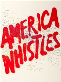america whistles (from the portfolio america: the third century) by ed ruscha